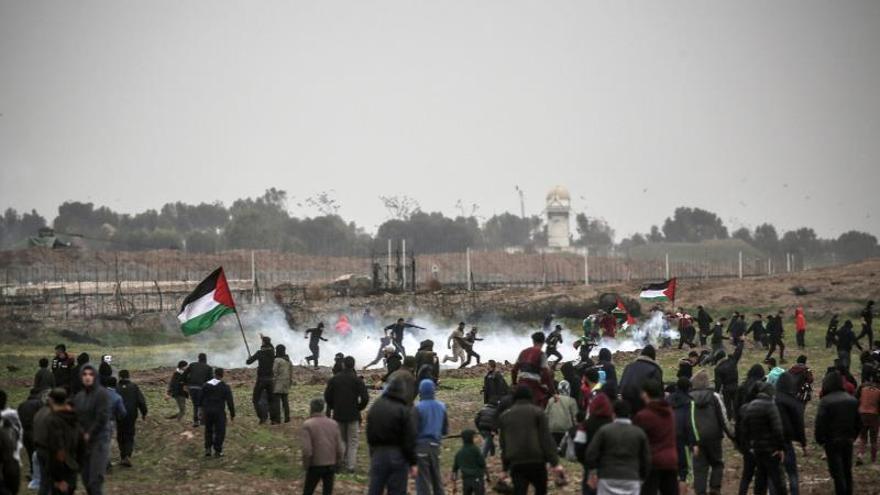 Un palestino muerto en enfrentamientos en la frontera entre Israel y Gaza