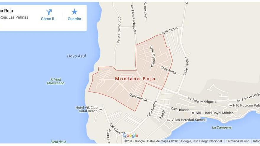 Localización de Montaña Roja