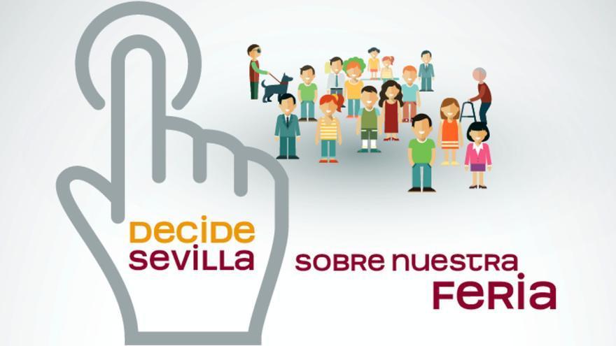 'Decide Sevilla', plataforma para votar sobre la Feria de Abril de 2017.