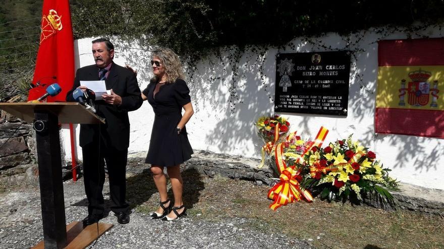 """La viuda del guardia civil Juan Carlos Beiro, crítica con Chivite en un homenaje: """"No es bienvenida"""""""