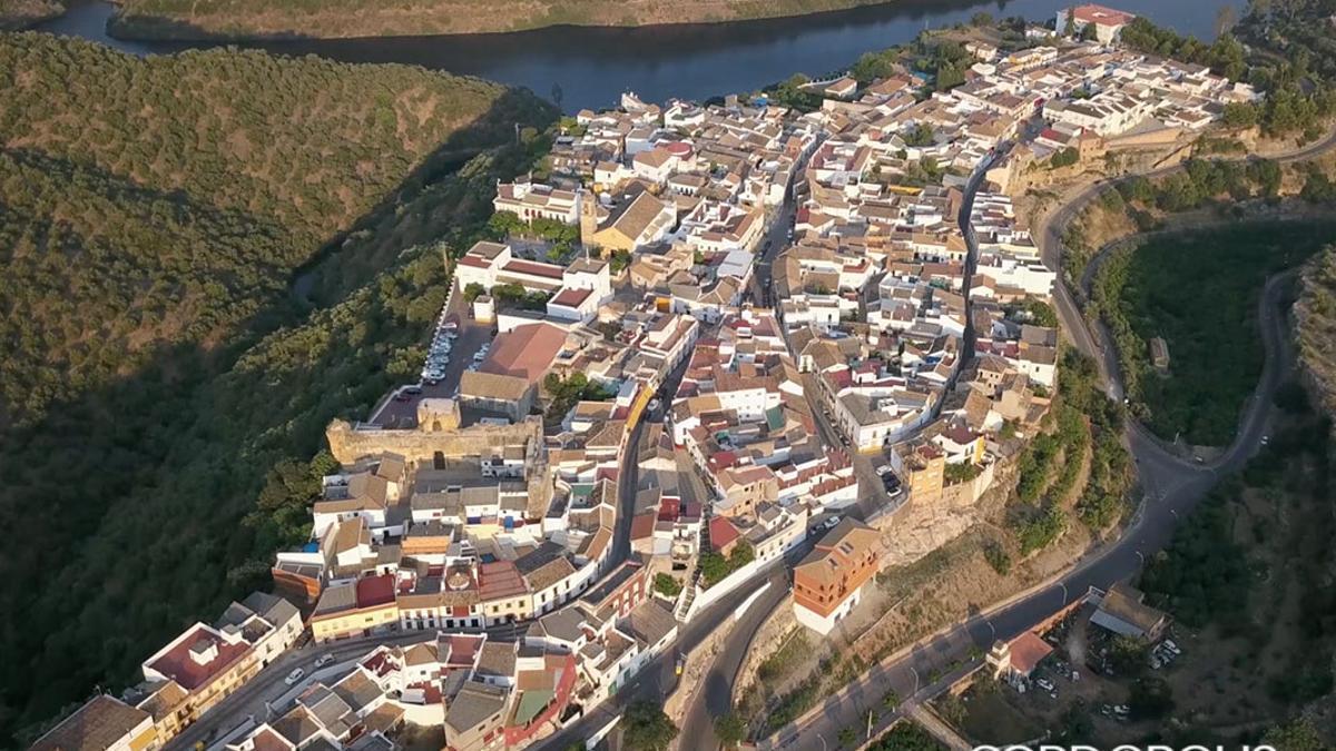 Vista aérea de Hornachuelos.