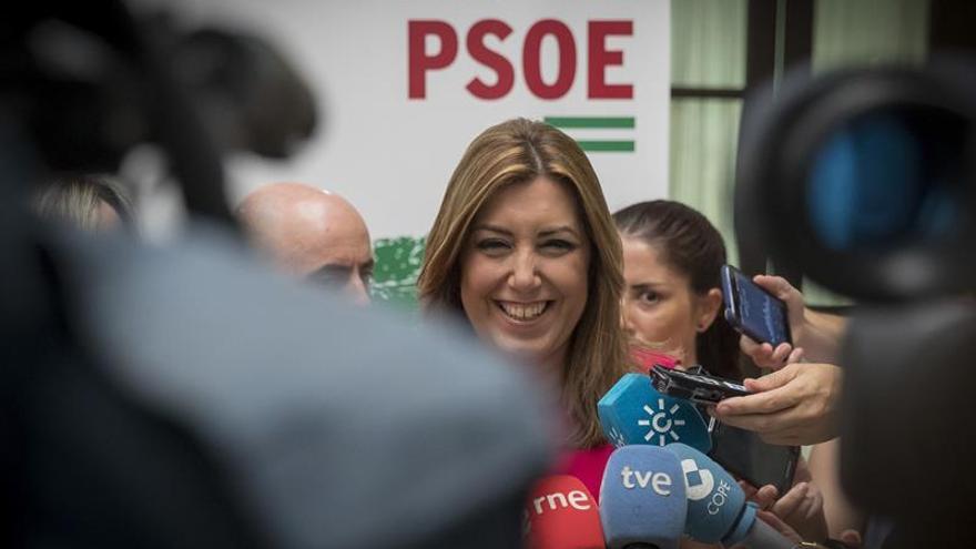 Susana Díaz formaliza su precandidatura a las primarias del PSOE andaluz