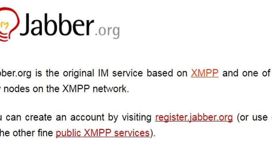 Jabber.org fue el primer servicio de mensajería instantánea basado en el protocolo XMPP