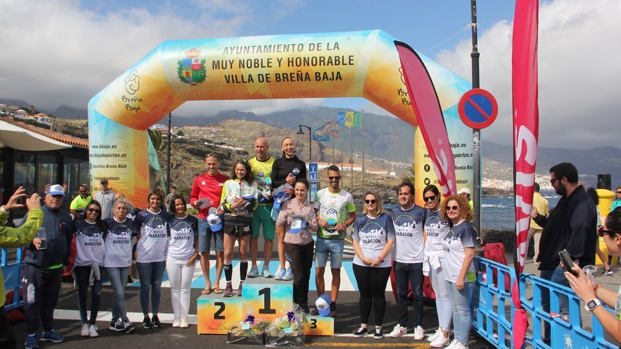 Vencedores de la III Media Maratón Isla de La Palma.