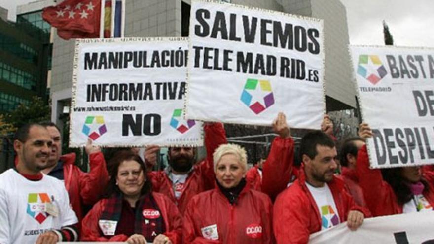 Ignacio González carga contra los sindicatos de Telemadrid