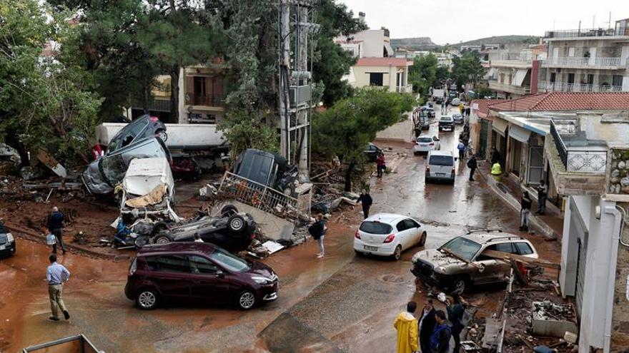 El número de fallecidos por las inundaciones en Grecia aumenta a 19