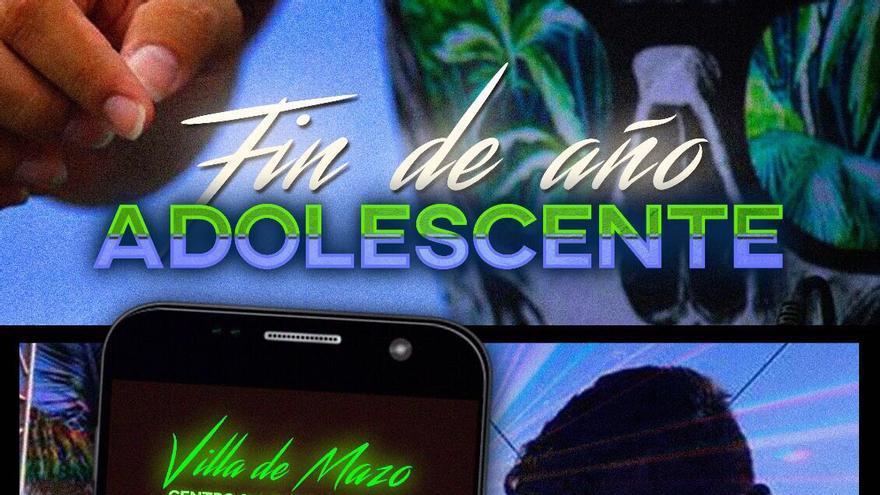 Cartel de la fiesta 'Fin de Año Adolescente' de Villa de Mazo.