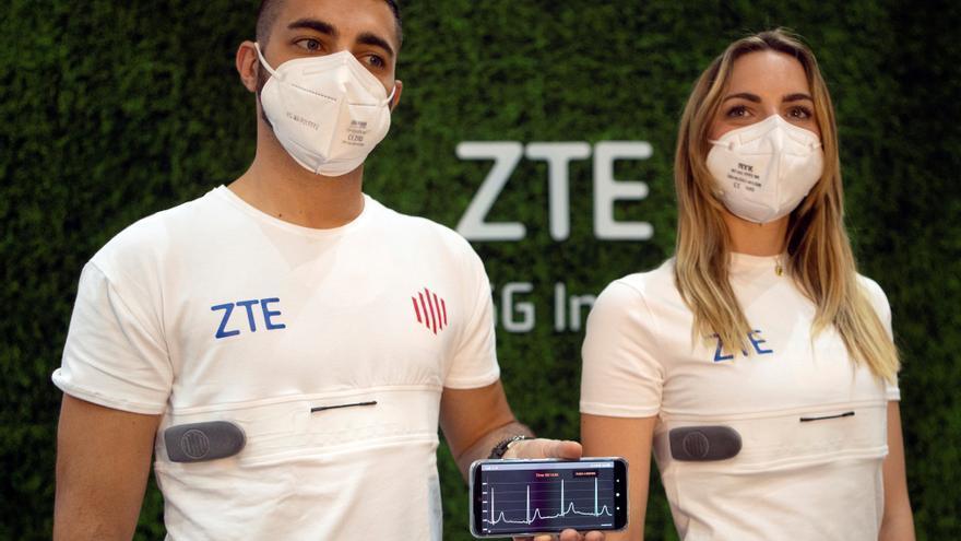 ZTE crea una camiseta que analiza parámetros biovitales gracias al 5G