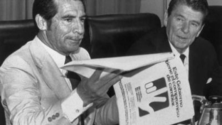 Ronald Reagan y Ríos Montt