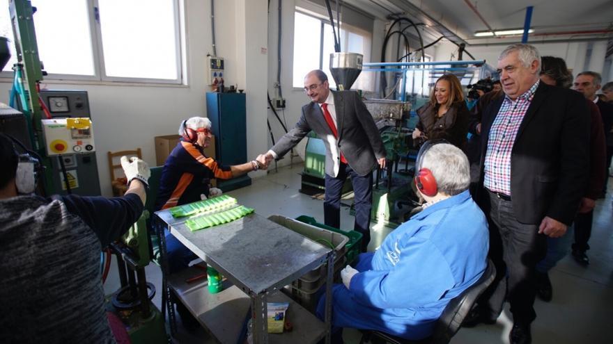 Javier Lambán ha visitado el centro ocupacional Ángel Custodio de Teruel
