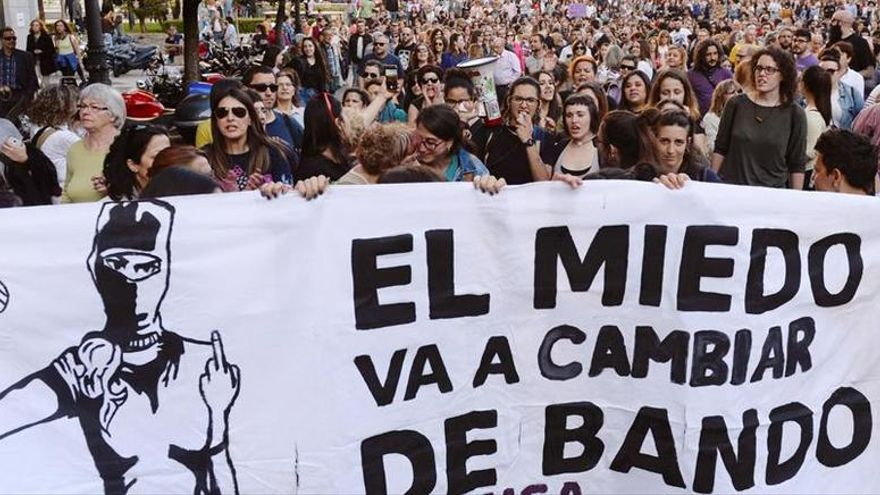 Manifestación feminista en Pamplona