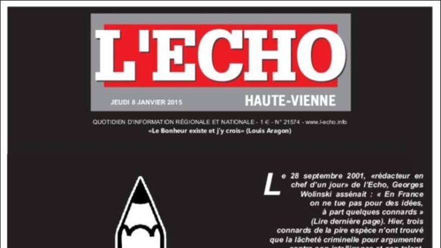 Portada de L'Echo de Haute-Vienne (regional francés)