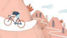 Ilustración del ciclista cántabro Vicente Trueba. | Stéfano Obregón