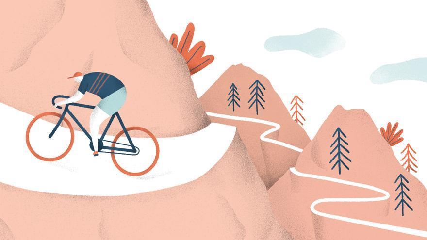 Ilustración del ciclista cántabro Vicente Trueba.   Stéfano Obregón