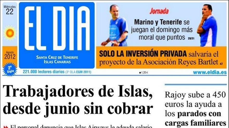 De las portadas del día (22/08/2012) #4