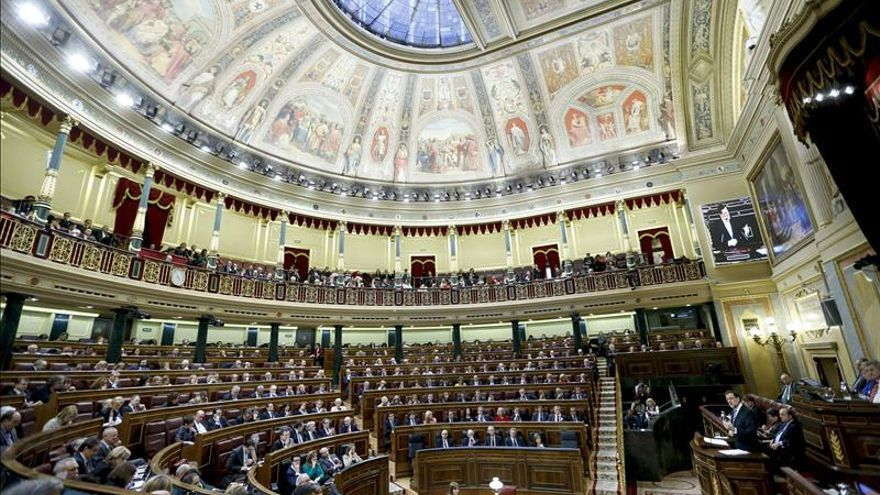 El expresidente Mariano Rajoy, en una intervención ante el Pleno del Congreso.