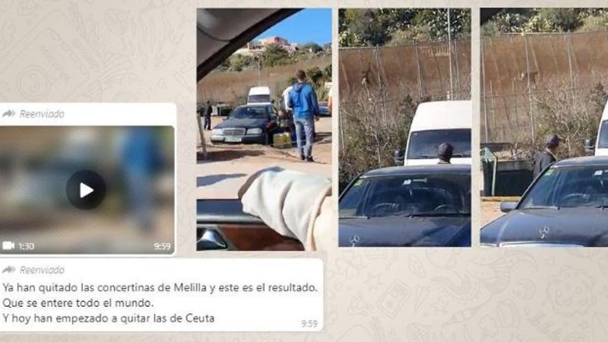 """No, no hay pruebas de que """"hayan quitado las concertinas"""" en Melilla y que este salto se haya producido por ello"""
