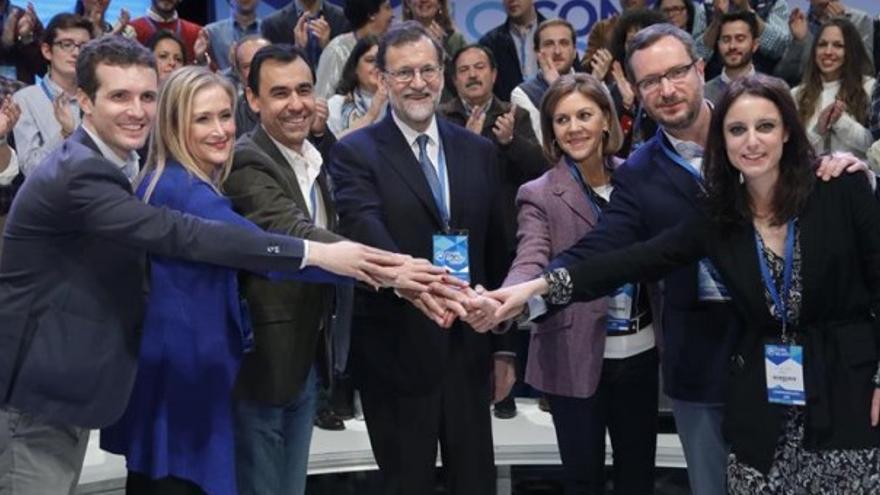 PP en la Convención nacional de 2017 con aplausos de fondo. EFE