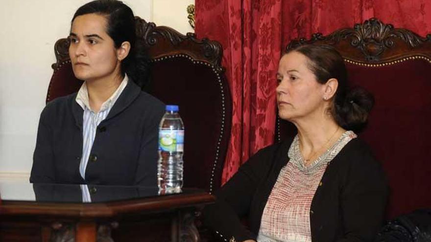Montserrat González y Triana Martínez en el juicio