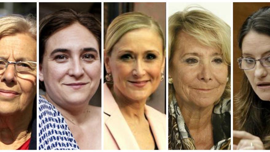 Cinco de las candidatas cabezas de lista de estas elecciones.