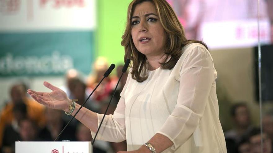 Susana Díaz: Siempre ayudaremos a que el partido se levante lo antes posible