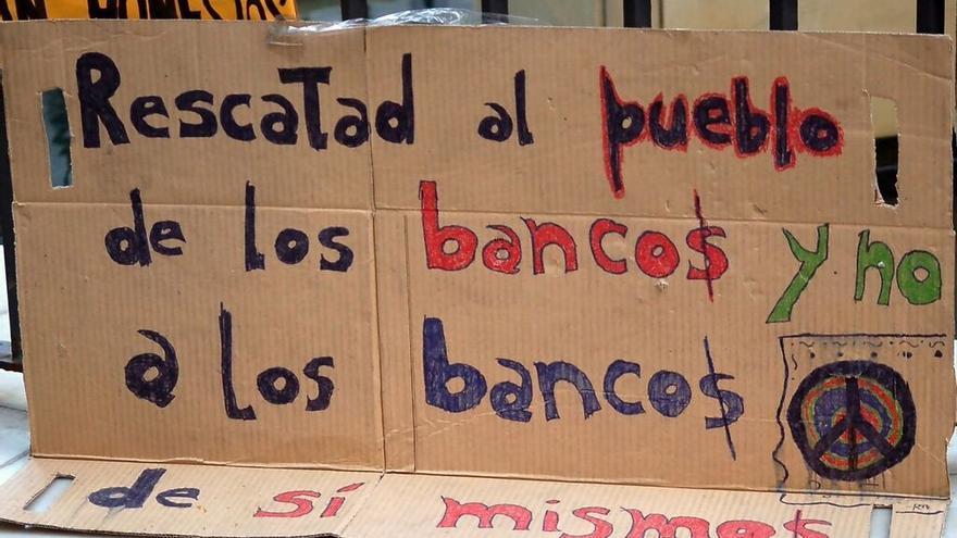 Carteles de protesta por las cláusulas suelo