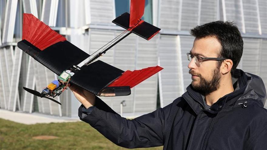 Una universidad suiza fabrica un dron con plumas que imita el vuelo de las aves