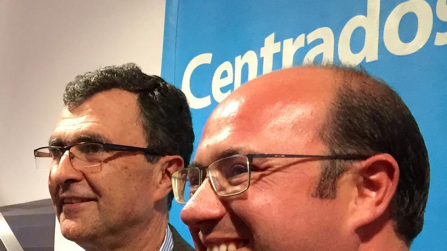 Los candidatos del PP a la alcaldía de Murcia, Ballesta, y a la presidencia de la Región, Sánchez / MJA