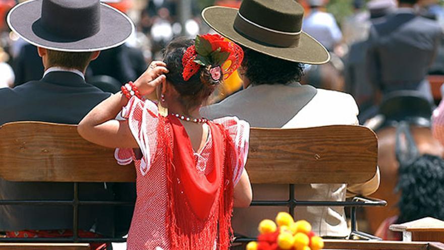 Vestimenta típica en la Feria del Caballo.