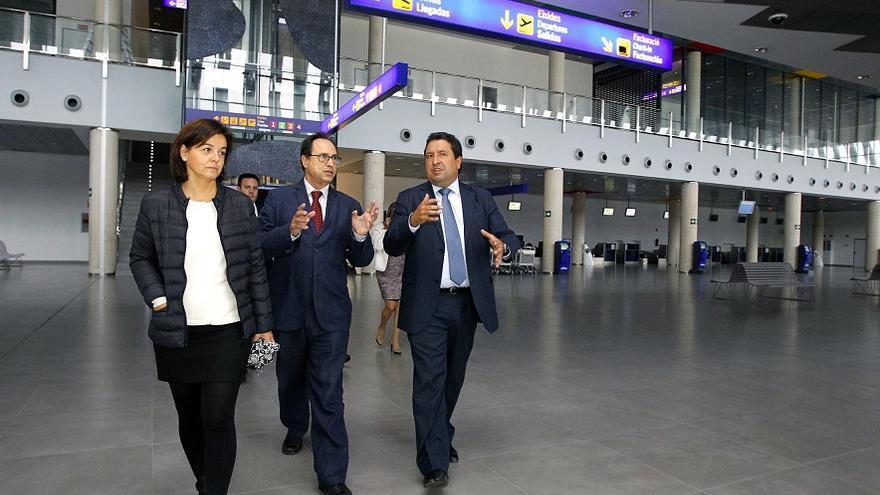 El conseller de Hacienda ha visitado el aeropuerto de Castellón
