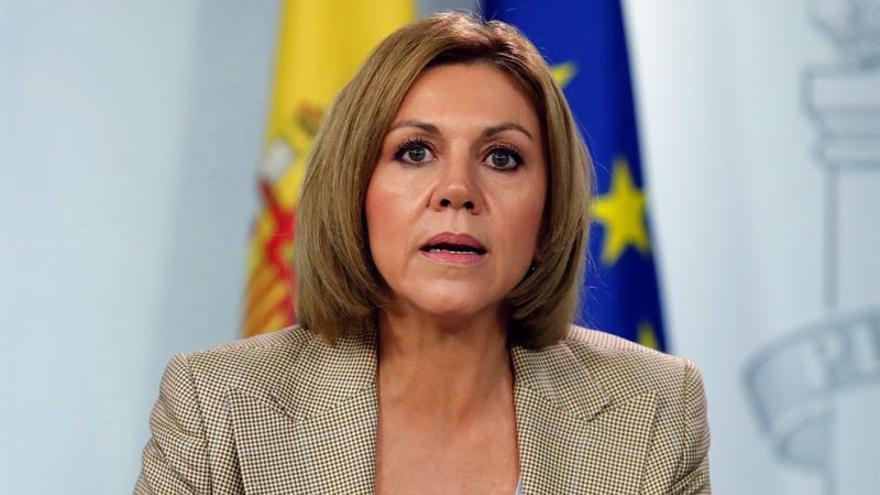 Cospedal apunta a la desinformación sobre Cataluña desde Rusia y Venezuela