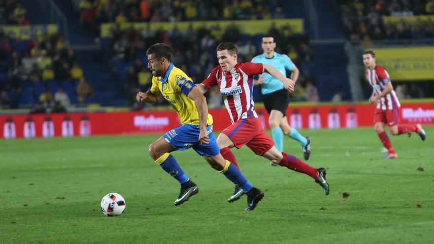 Imagen del encuentro entre la UD Las Palmas y el Atlético de Madrid. Alejandro Ramos.