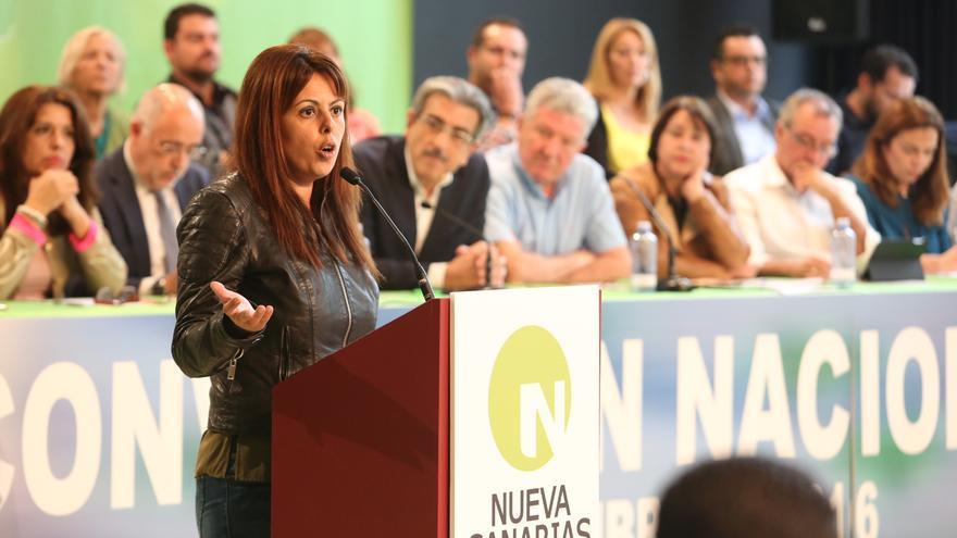 La consejera Minerva Alonso en la Convención Nacional de Nueva Canarias (ALEJANDRO RAMOS)