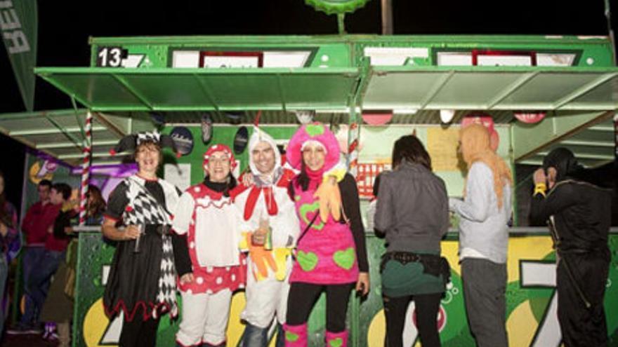 Chiringuitos en los Carnavales de Las Palmas de Gran Canaria. FOTO: web de lpacarnaval.