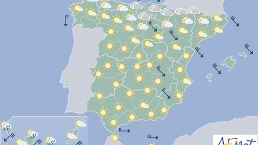 Mañana sigue la nieve pero a partir de los 700 metros, de los 600 en Pirineos
