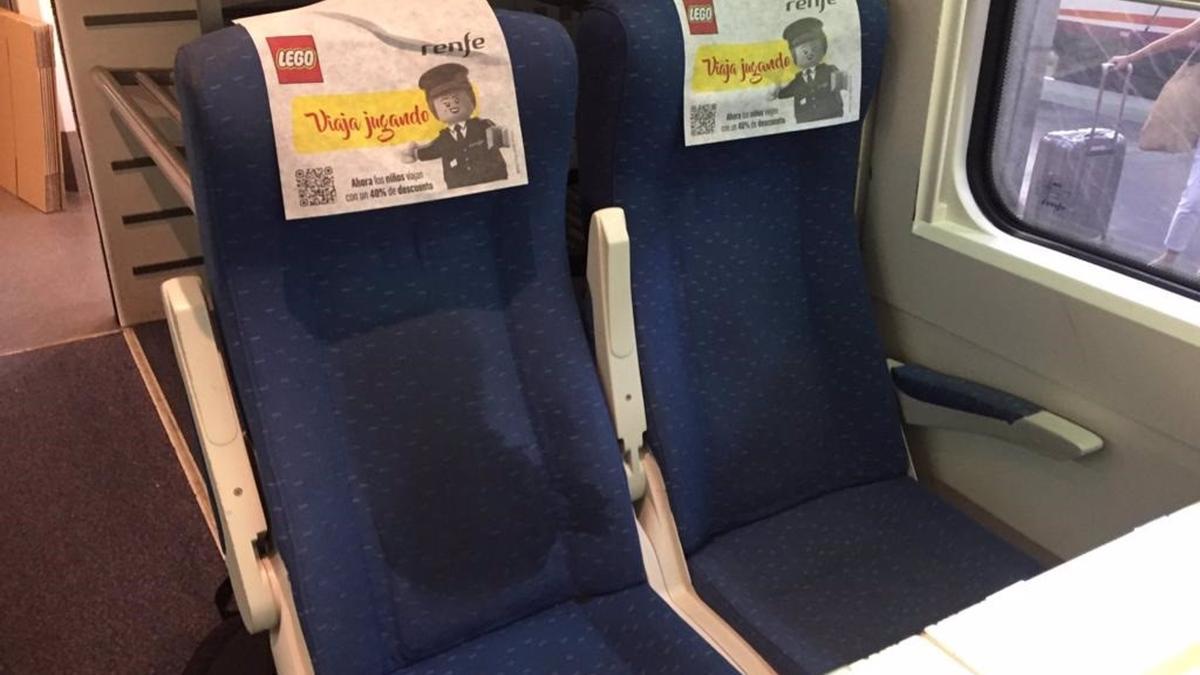 Restos de sudor en un asiento del tren que registró la incidencia este viernes