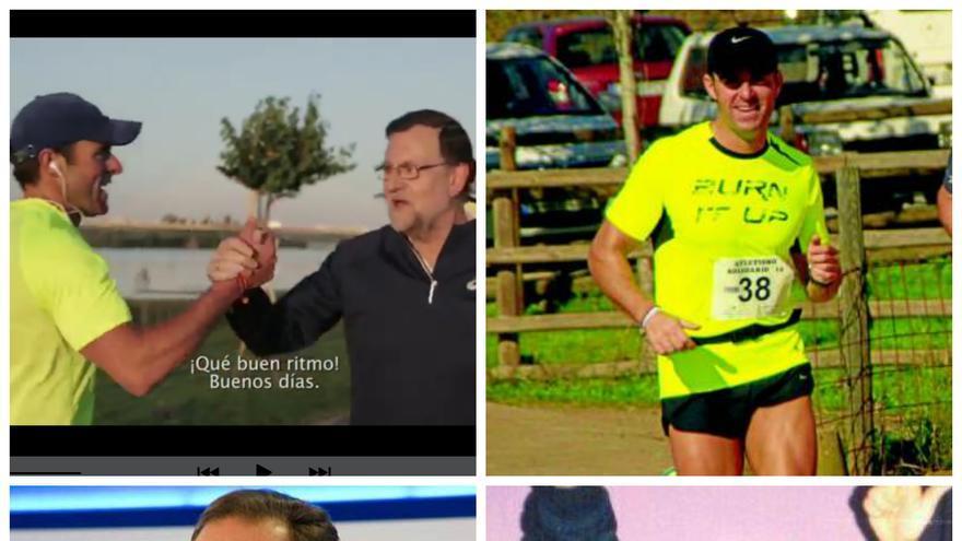 Collage de imágenes de Juan Parejo y Mariano Rajoy