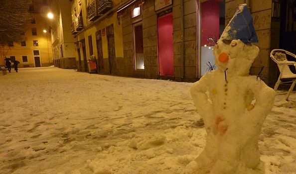Nuevo habitante de la plaza del Dos de Mayo | Foto: A.P.
