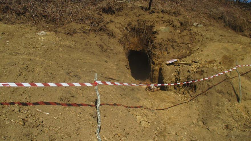 El túnel tiene una anchura de 70 centímetros y una altura de 1,7 metros.