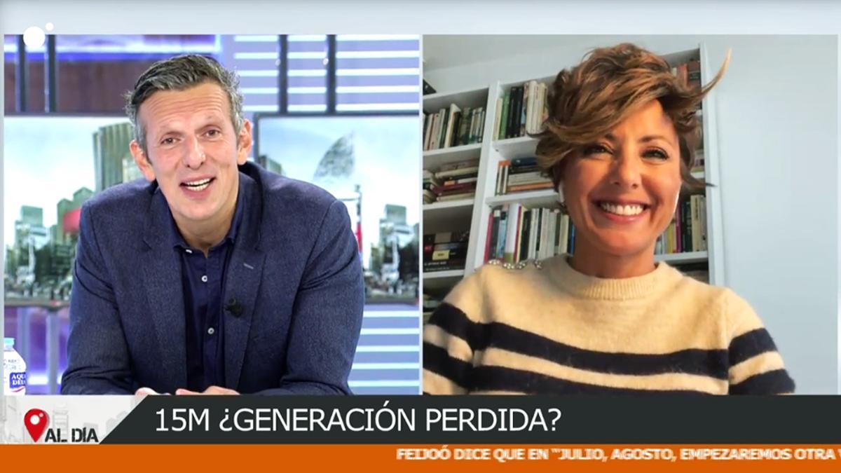 Joaquín Prat con Sonsoles Ónega en 'Cuatro al día'