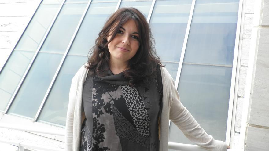La recién elegida secretaria insular de Podemos en Tenerife, María Coll.