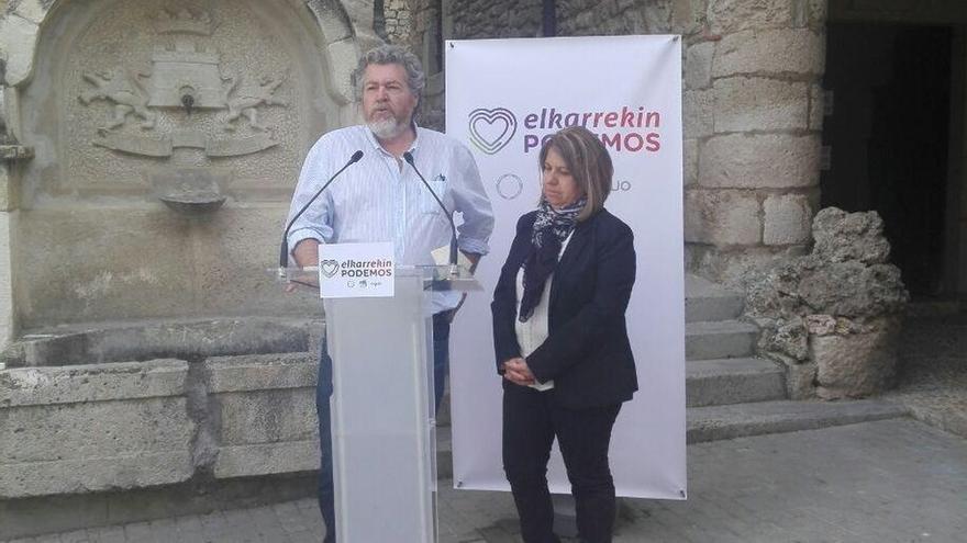 """Elkarrekin Podemos propone un referéndum sobre Treviño (Burgos) ante las """"contradicciones"""" de PP y PSOE"""