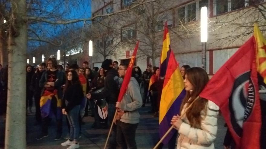 Manifestación en Alicante contra la presencia del Rey Felipe VI.