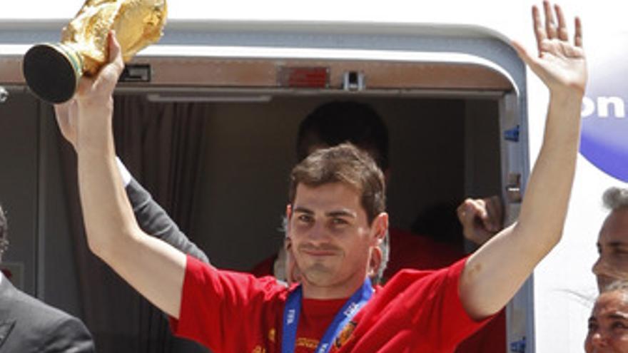 Casillas y La copa del Mundo en Madrid
