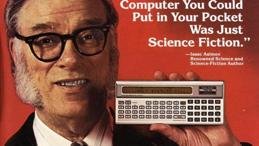 """Anuncio de los años 80 de los """"ordenadores de bolsillo"""" Radio Shack TRS-80"""