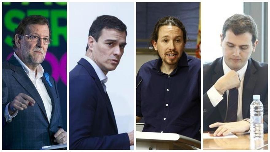 Rivera y Sánchez sacan un notable en inglés, Iglesias se queda en el bien y Rajoy necesita mejorar