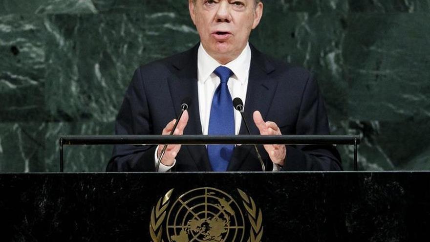 """Santos dice en la ONU que se puede lograr la paz en el mundo """"con voluntad"""""""