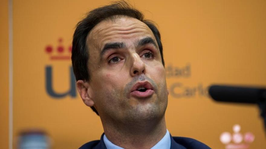 El rector del Universidad Rey Juan Carlos (URJC), Javier Ramos,