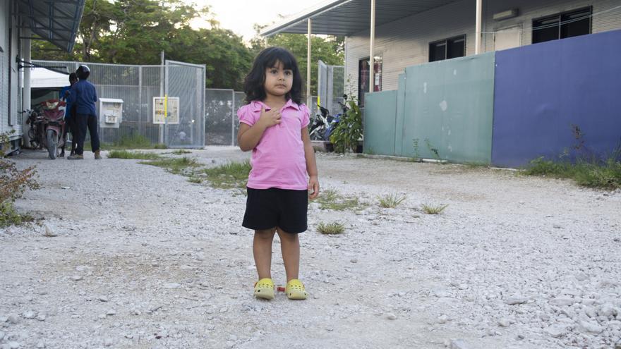 Roze, una de las menores encerradas en Nauru.