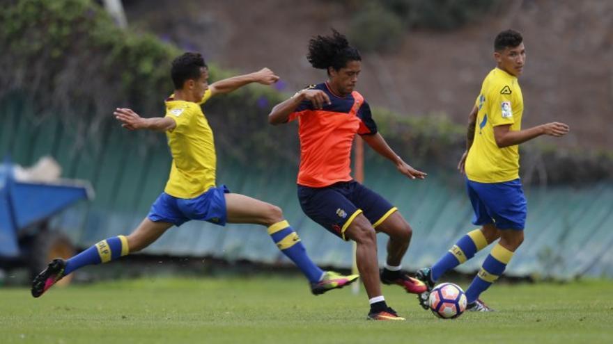 Partido de entrenamiento entre la UD Las Palmas y su filial (Foto:UD Las Palmas Oficial)